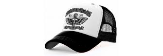 MOTOMANIACS - B/W Trucker Cap