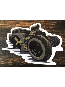 HOT ROD GIRL - Sticker