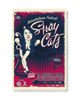 STRAY CATS - Farewel Tour Poster (Top sheet)