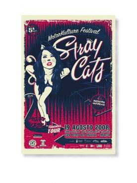 STRAY CATS - Farewel Tour Poster (Top sheet)