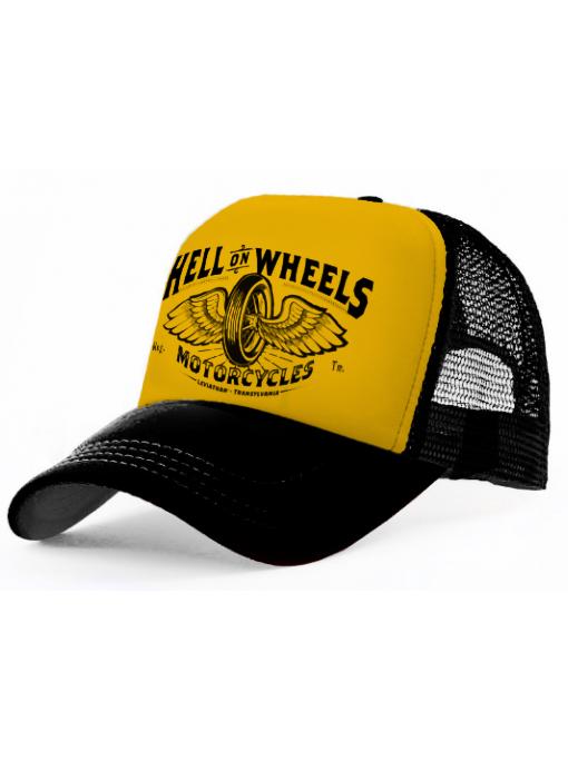 HELL ON WHEELS - B/Y Trucker Cap