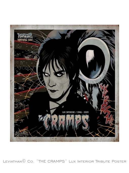 THE CRAMPS - Lux Interior Tribute Poster