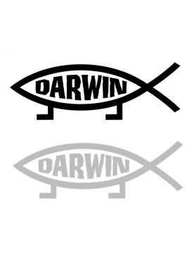 Darwin vs. Jesus Sticker