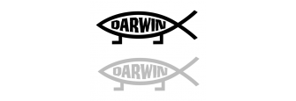 Darwin vs. Jesus Sticker