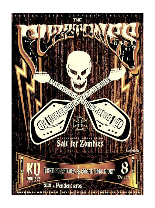 THE FUZZTONES - VOX Poster