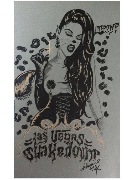Las Vegas Shakedown SKETCH - SOLD