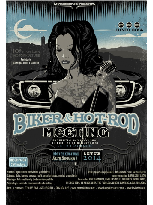 Biker & Hot Rod Meeting 2014 - Poster