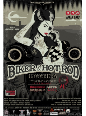 Biker & Hot Rod Meeting 2013 - Poster