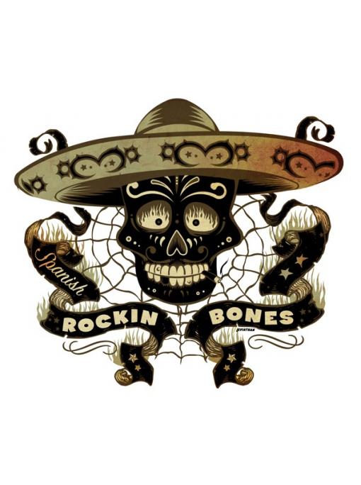 SPANISH ROCKIN BONES - Poster